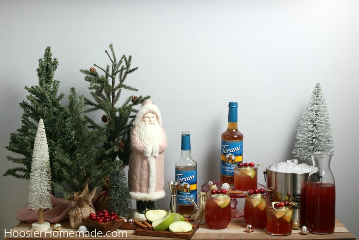 Holiday Mocktails on table