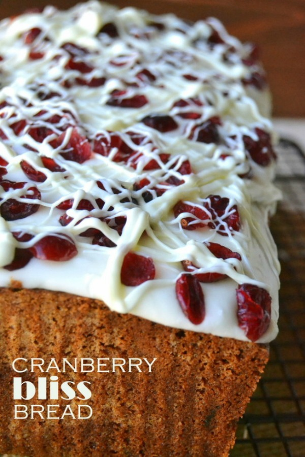 Just like Starbuck's serves, this Cranberry Bliss Bread is the perfect Christmas Recipe for your holiday season! Visit our 100 Days of Homemade Holiday Inspiration for more recipes, decorating ideas, crafts, homemade gift ideas and much more!