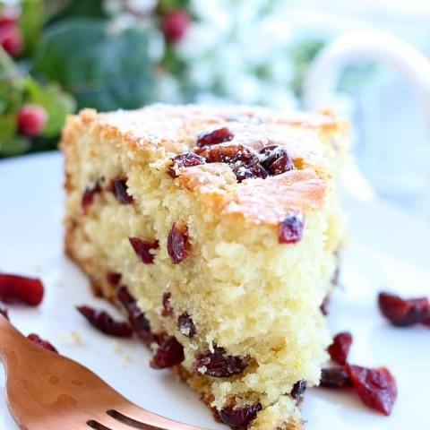 Coffee Cake with Dried Cranberries