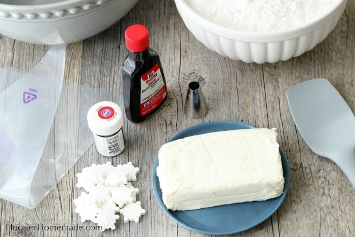 Ingredients to make Cream Cheese Mints
