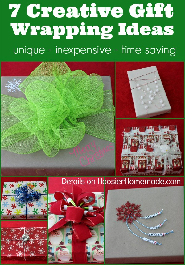 Creative Gift Wrapping Ideas on HoosierHomemade.,com