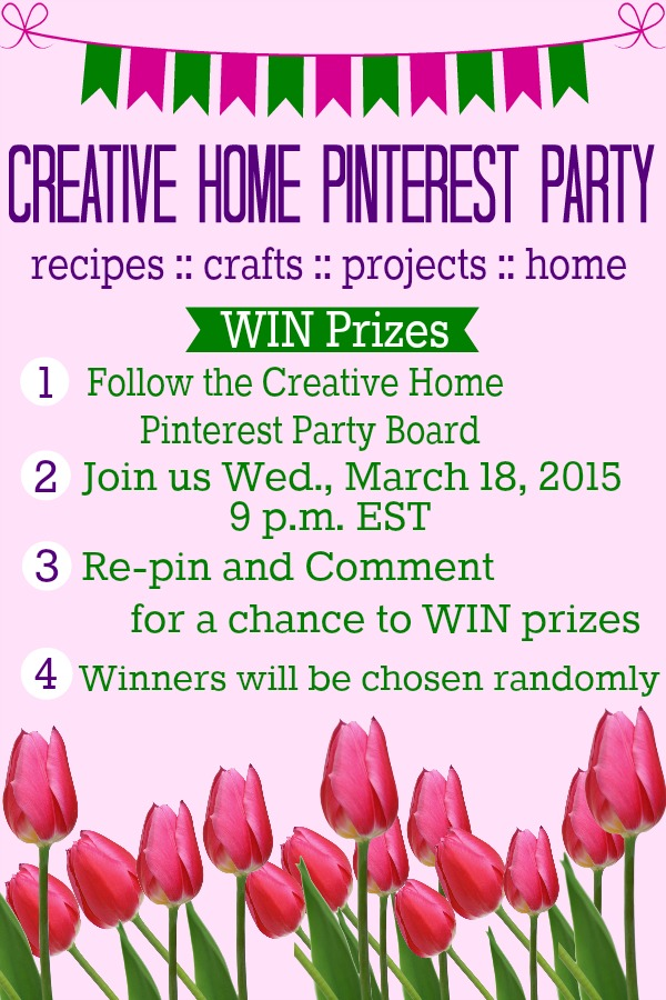 Be inspired for SPRING! Join us Wednesday, March 18 at 9 pm EST. WIN Prizes too!