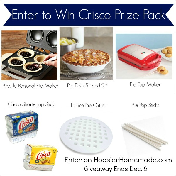 Enter to win Crisco Prize Pack on HoosierHomemade.com