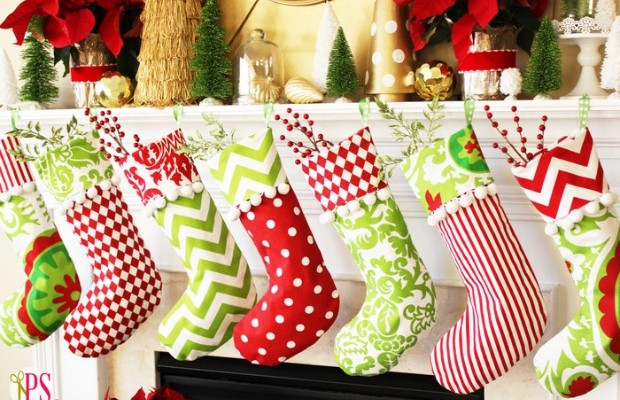 Cuffed Christmas Stockings: 100 Days of Homemade Holiday Inspiration on HoosierHomemade.com