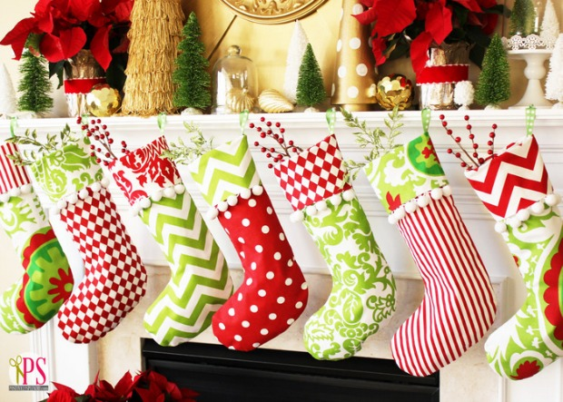 cuffed christmas stockings 100 days of homemade holiday inspiration on hoosierhomemadecom - Homemade Christmas Stockings