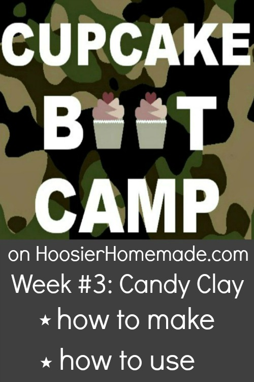 Cupcake Boot Camp :: How to make Candy Clay :: Recipe and Video on HoosierHomemade.com
