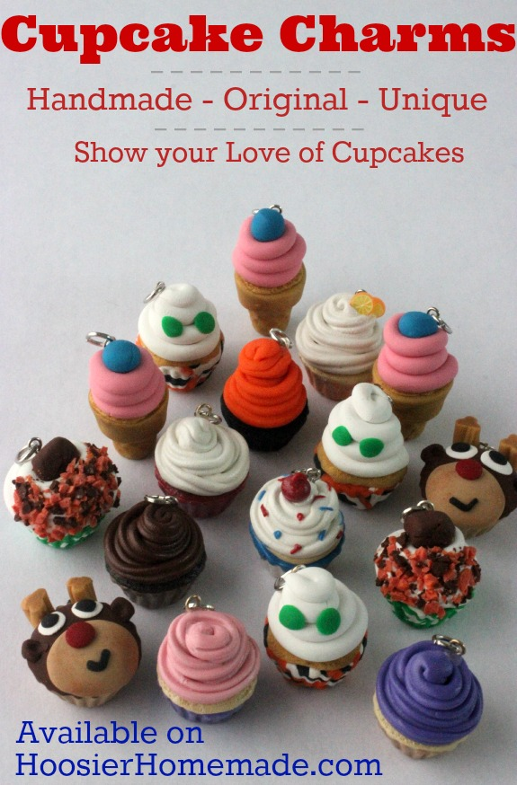 Love cupcakes? These handmade, unique Cupcake Charms are adorable! Grab yours today! Pin to your Style Board!