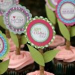 Cupcake Toppers for Mother's Day