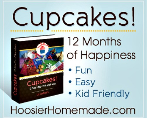 Cupcakes 12 months of happiness Book from HoosierHomemade.com