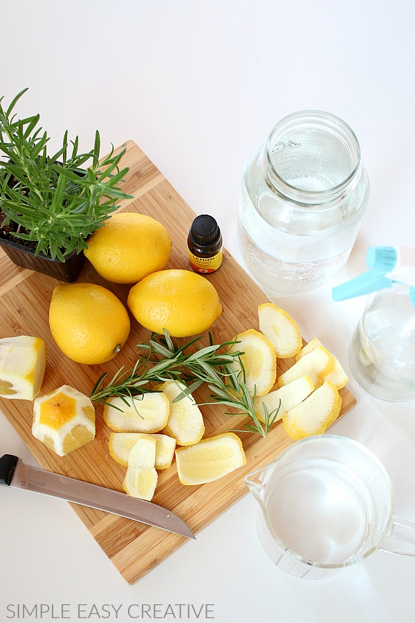 Lemon Peels for Cleaning Solution