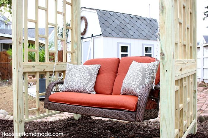 Diy Backyard Swing Hoosier Homemade