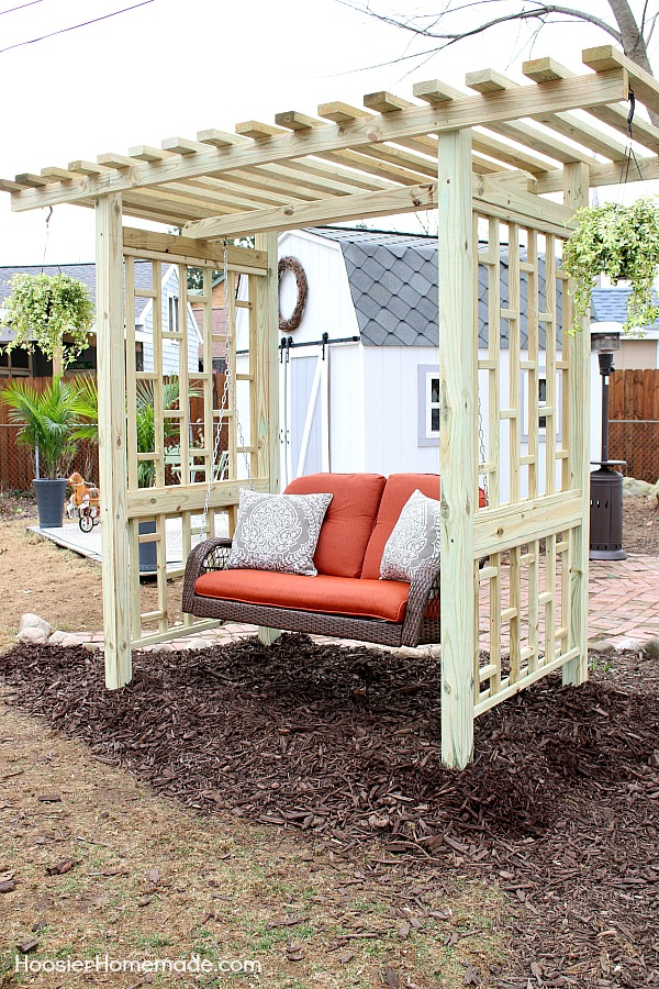 Garden Swing Plans For The Backyard Hoosier Homemade