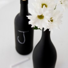 DIY Chalkboard Paint Wine Bottles on 100 Days of Homemade Holiday Inspiration on HoosierHomemade.,com