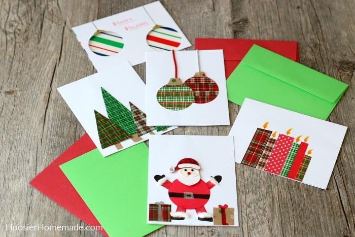 Christmas cards made with paper