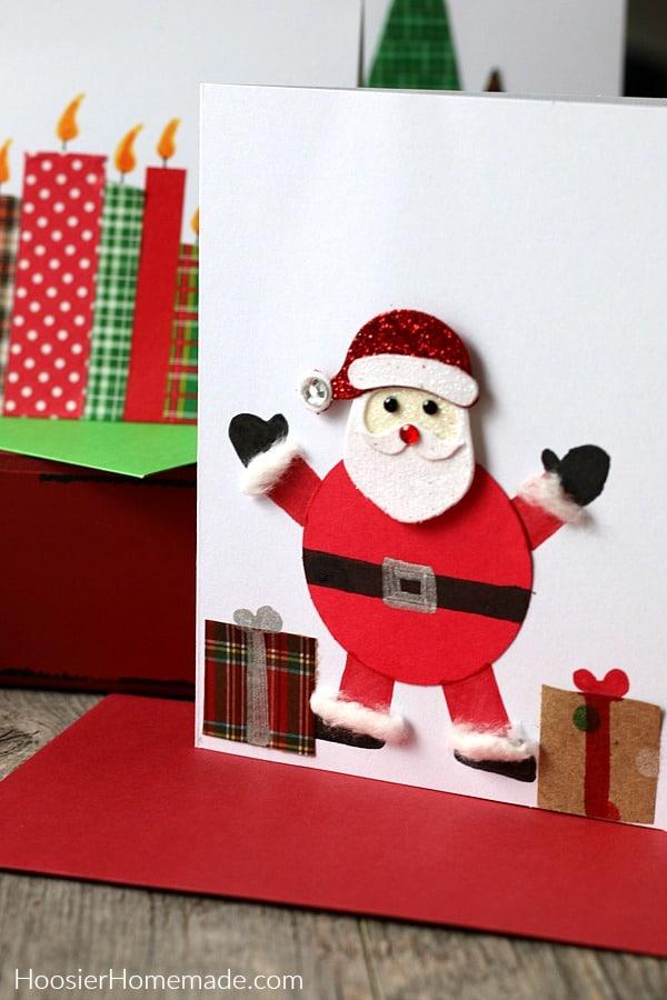 DIY Christmas Cards with Santa