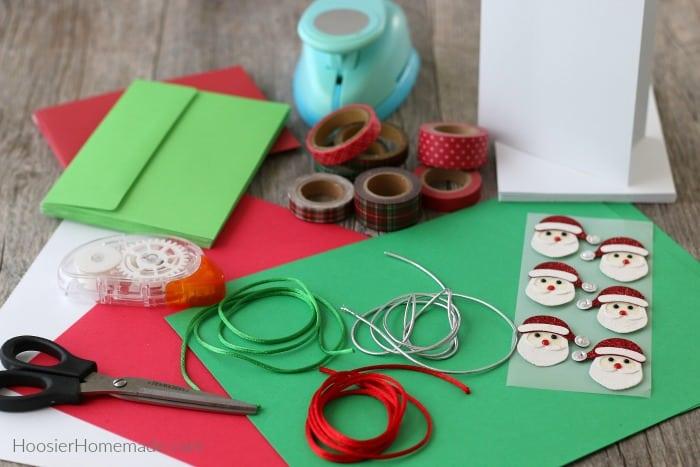 Supplies to make DIY Christmas Cards