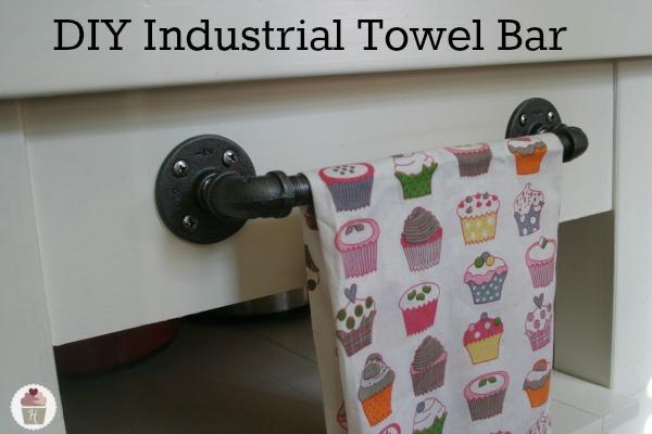 . DIY Industrial Towel Bar   Hoosier Homemade