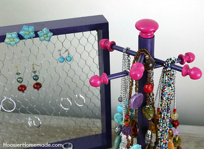 Diy Jewelry Organizer Hoosier Homemade