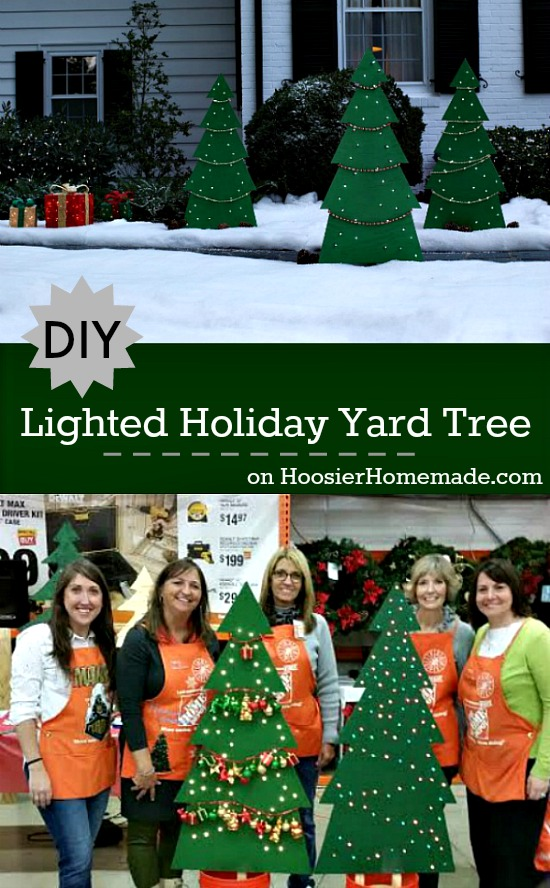 Learn how to make this Lighted Holiday Yard Tree, it's easier than you think! Pin to your Christmas Board!