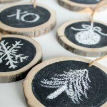 DIY Log Slice Ornaments