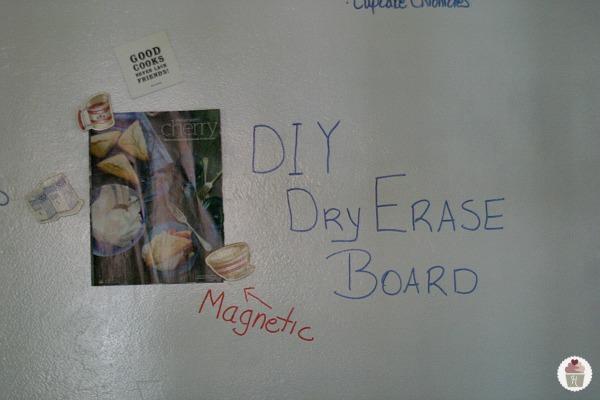 diy magnetic dry erase wall hoosier homemade. Black Bedroom Furniture Sets. Home Design Ideas