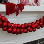 DIY Ornament Garland  Instructions on HoosierHomemade.com