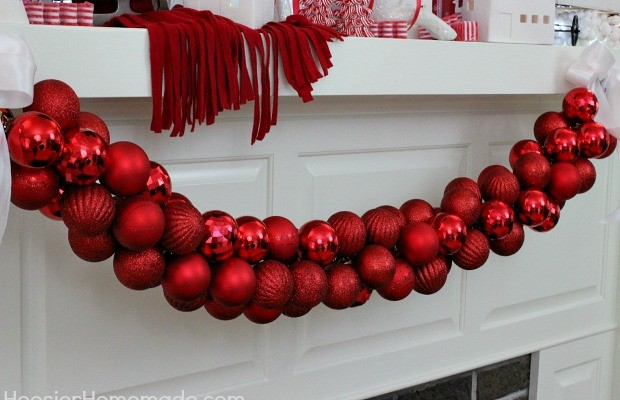 DIY Ornament Garland  Instructions on HoosierHomemade.com