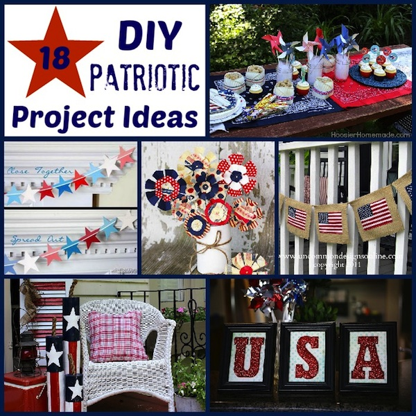 18 DIY Patriotic Crafts and Decorations Hoosier Homemade : DIY Patriotic Project Ideas from www.hoosierhomemade.com size 600 x 600 jpeg 196kB