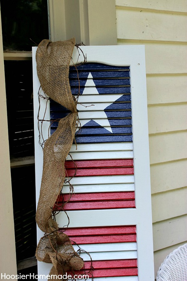 Diy Patriotic Shutter Hoosier Homemade