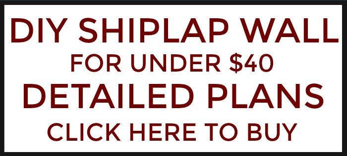 DIY Shiplap Wall for under $40 - Hoosier Homemade