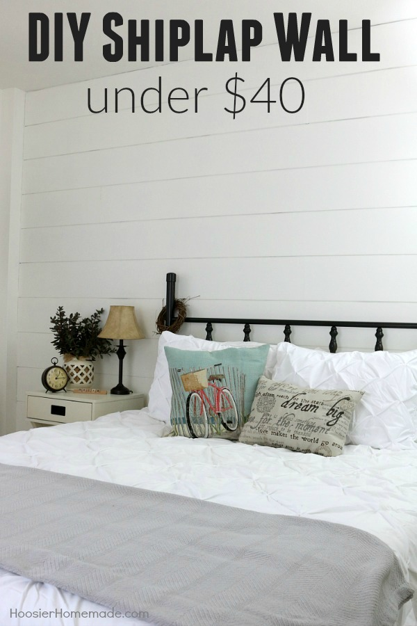 Are you in love with the show FIXER UPPER? Do you love Shiplap Walls? Wish you could have one? Well now YOU can! Follow these EASY instructions and transform your own space for UNDER $40!