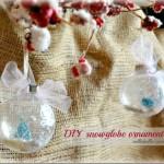 DIY Snow Globe Ornaments: 100 Days of Homemade Holiday Inspiration on HoosierHomemade.com