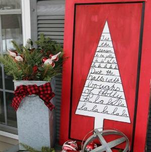 Christmas Tree Sign :: HoosierHomemade.com
