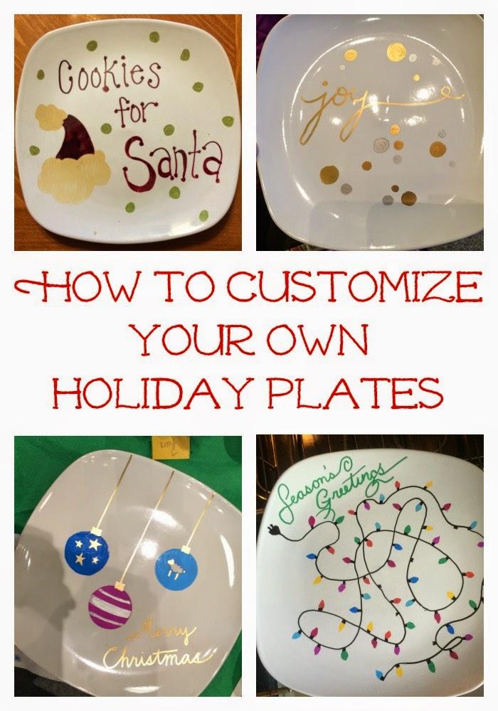 DIY Custom Holiday Plates