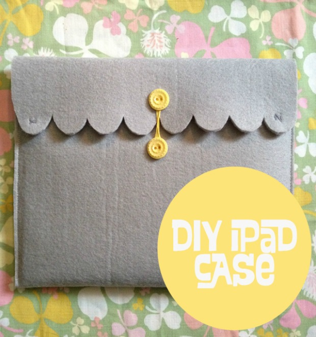 Surprise the iPad user in your life with this Simple Homemade Gift Idea, this DIY iPad Case is easy to make with just a few supplies! Pin it to your Craft or Gift Giving Board!