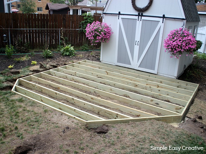 How To Build A Ground Level Deck Hoosier Homemade