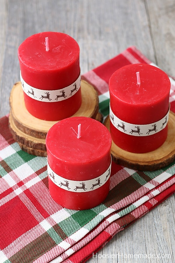 Decorated Candles with Ribbon