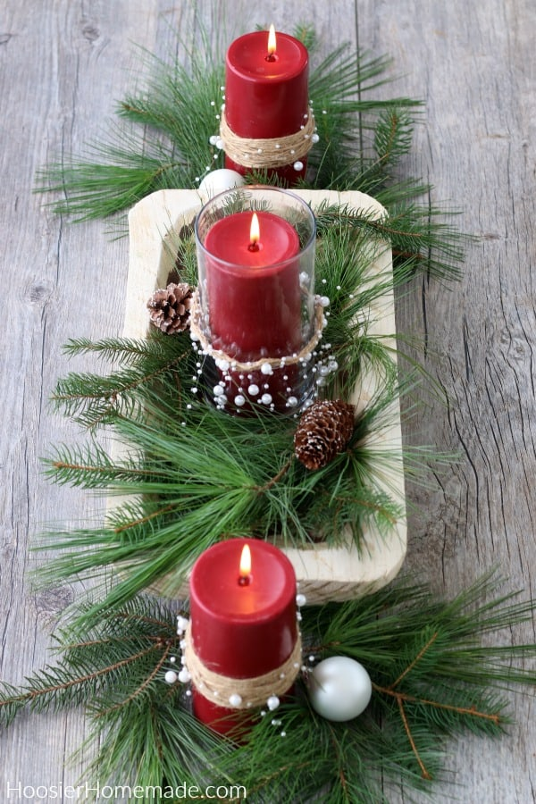 Centerpiece with Decorated Candles