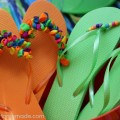 Decorated Flip Flops | Instructions on HoosierHomemade.com