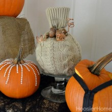 Easy Decorated Pumpkins :: HoosierHomemade.com