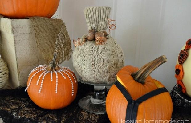 Easy Decorated Pumpkins :: HoosierHomemade.com