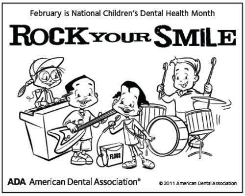 dental health coloring pages - national pediatric dental health month hoosier homemade