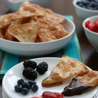 Tortilla Chip Dessert Fondue