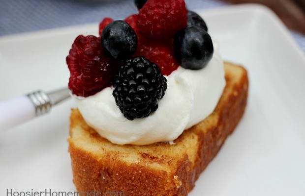 Grilled Pound Cake | Recipe on HoosierHomemade.com