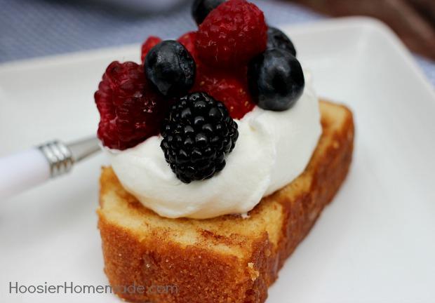 Grilled Pound Cake   Recipe on HoosierHomemade.com