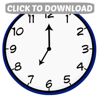 Countdown Bags: Clock Printables - Hoosier Homemade
