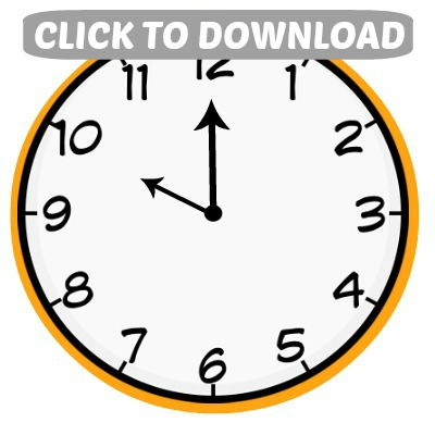 image about Printable Clock called Countdown Baggage: Clock Printables - Hoosier Do-it-yourself