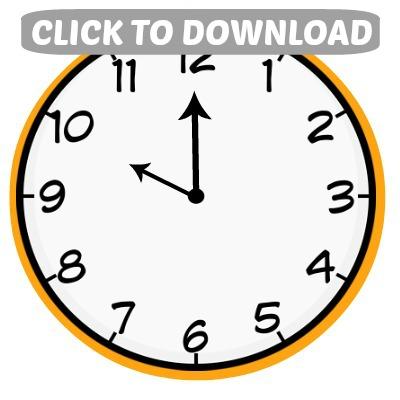 photo about Printable Clocks identified as Countdown Baggage: Clock Printables - Hoosier Handmade