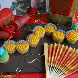 Dragon Cupcakes: Chinese New Year - Hoosier Homemade