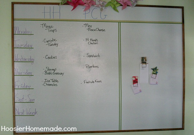 Magnetic Dry Erase Wall on HoosierHomemade.com